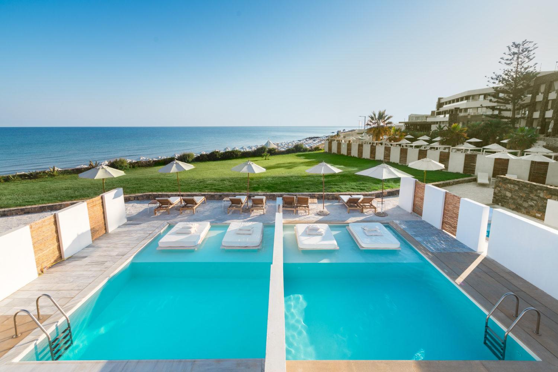 Island hotel Crete Sea view pool
