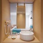 island hotel Crete open bathroom
