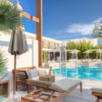 Relaxing pool-side creta