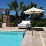 Privet pool with stunning views of the Aegean sea